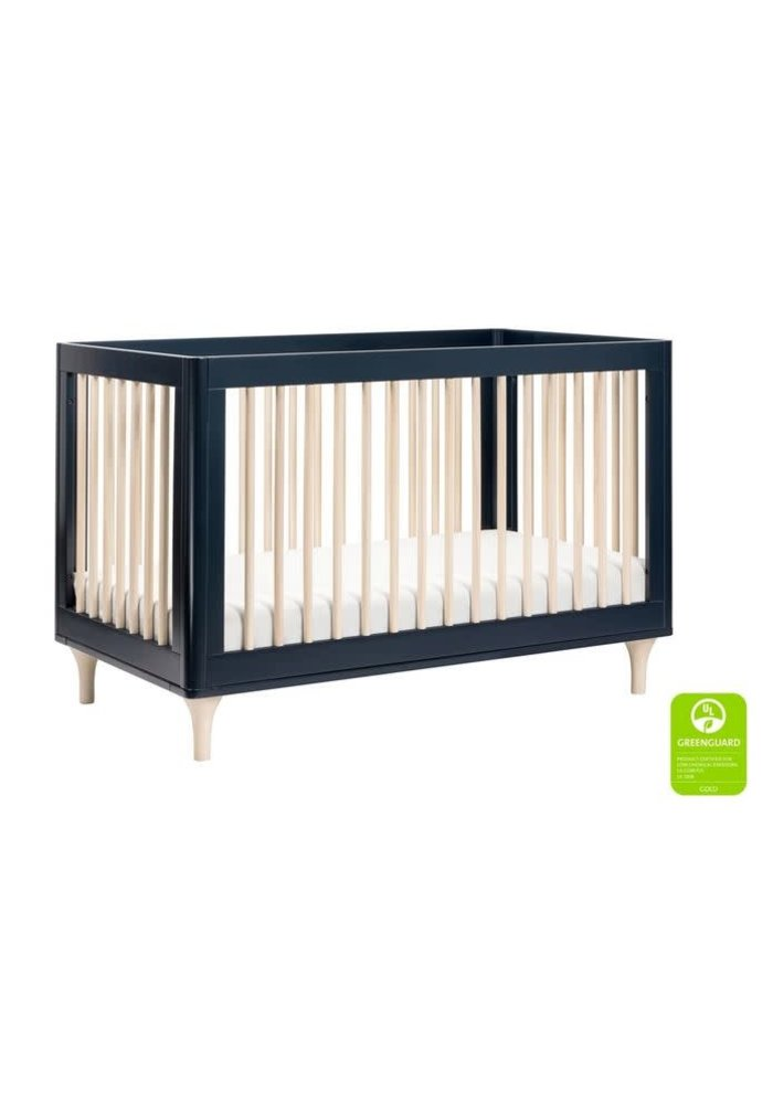 Baby Letto Lolly 3 In 1 Convertible Crib With Toddler Rail - Navy/Washed Natural