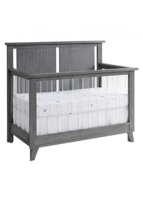 Oxford Baby Oxford Baby Holland 4 In 1 Acrylic Convertible Crib In Cloud Gray