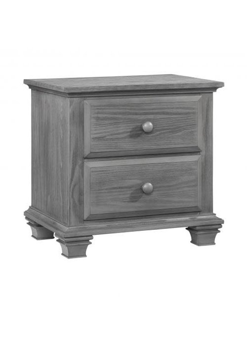 Oxford Baby Oxford Baby Kenilworth 2 Drawer Night Stand In Graphite Grey