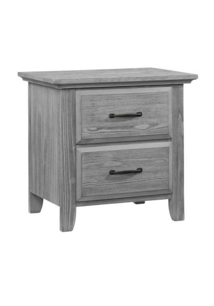 Oxford Baby Willowbrook 2 Drawer Night Stand In Graphite Grey