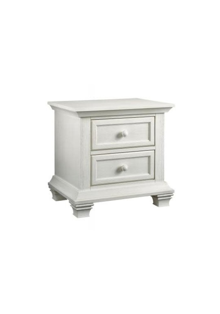 Oxford Baby Cottage Cove 2 Drawer Night Stand In Vintage White