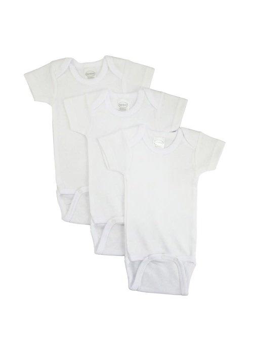 Bambini Bambini White Short Sleeve Onesie In Medium (12-18 Months)