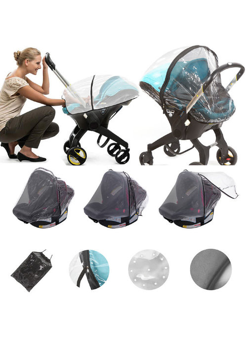 Nostrand Baby Nostrand Baby Universal Baby Car Seat Rain Cover & Insect Net