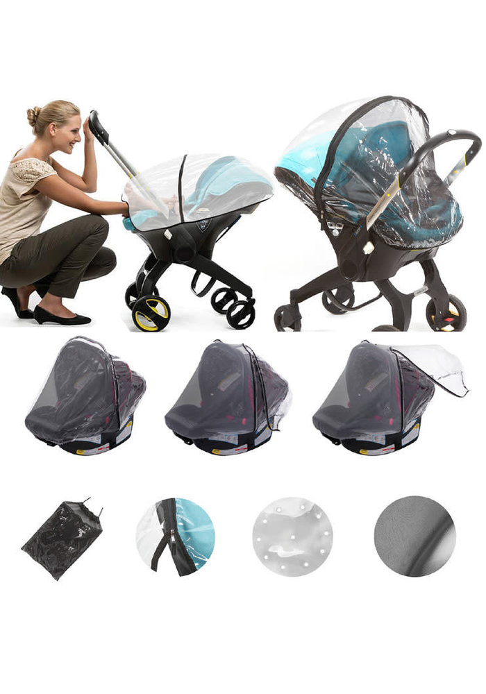 Nostrand Baby Universal Baby Car Seat Rain Cover & Insect Net