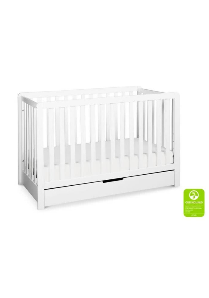 Davinci Colby 4-in-1 Convertible Crib w/ Trundle Drawer in White