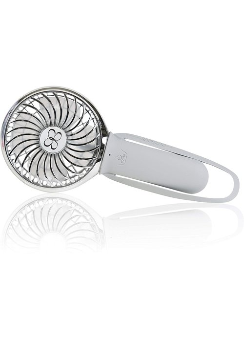 "Buggy Gear Buggygear 3 Speed USB Rechargeable Buggy ""Turbo"" Fan, Gray/Chrome"