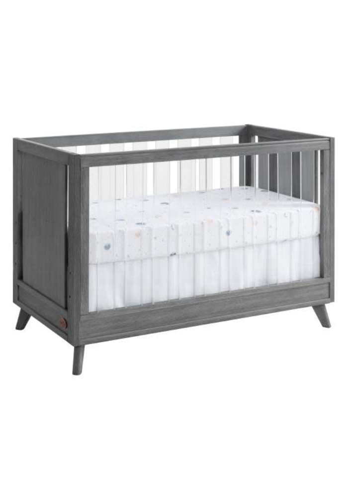 Oxford Baby Holland Island Acrylic 3 In 1 Crib In Cloud Gray
