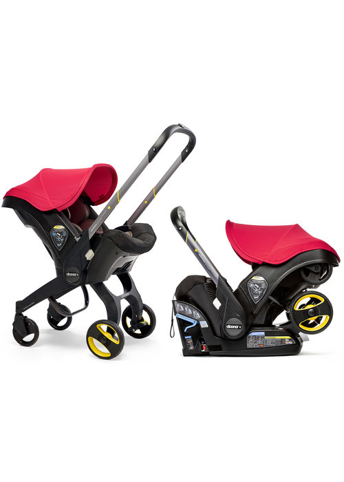 Doona Doona + Infant Car Seat - Stroller With Infant Car Seat Base Flaming Red