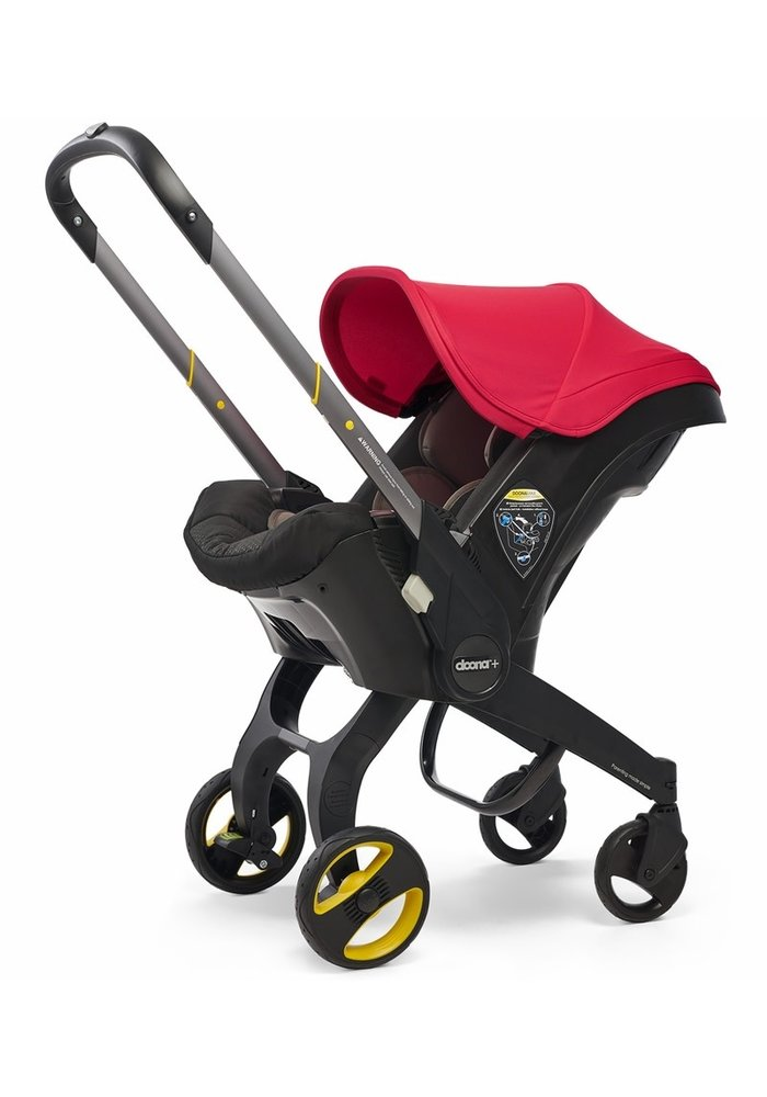Doona + Infant Car Seat - Stroller With Infant Car Seat Base Flaming Red