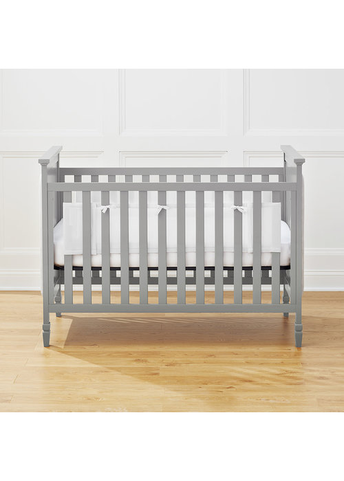 Breathable Baby Breathable Baby Classic Breathable® Mesh Liner for Solid-End Cribs – White