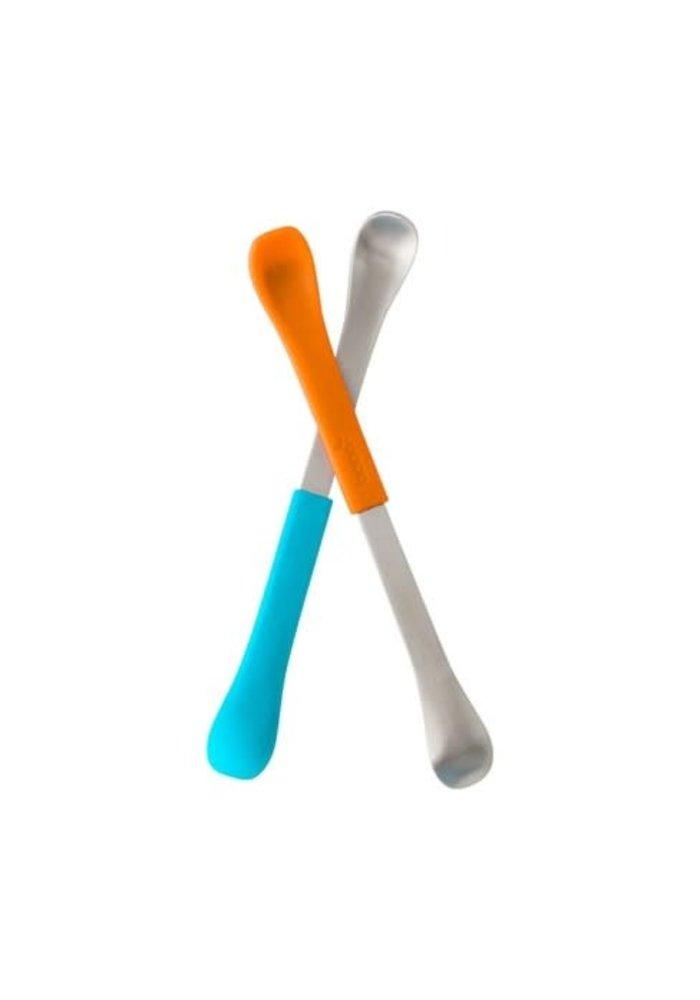 Boon Swap 2 In 1 Feeding Spoon In Blue/Orange