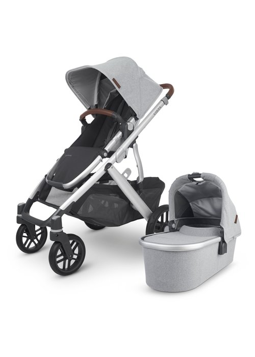UppaBaby 2020 Uppa Baby Vista V2 Stroller In Stella (Brushed mélange/silver/Chestnut Leather)