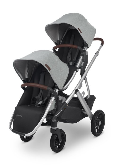UppaBaby UPPAbaby 2020 Vista V2 Double Stroller - Stella (Brushed Mélange/Silver/Chestnut Leather)