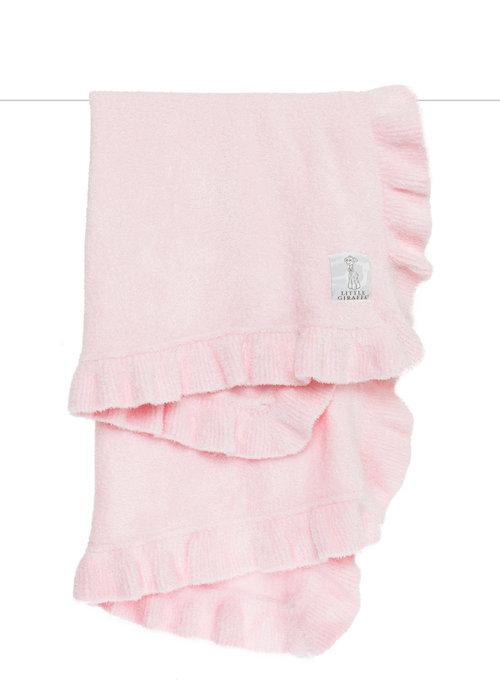 Little Giraffe Little Giraffe Dolce Chevron Blanket In Pink