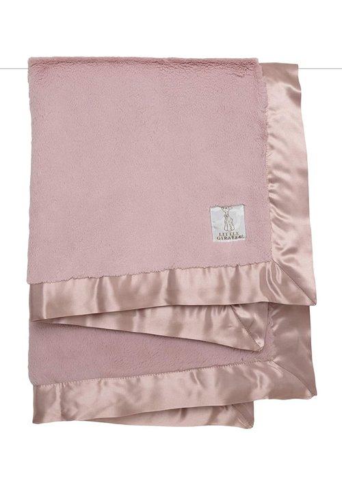 Little Giraffe Little Giraffe Luxe Blanket In Dusty Pink