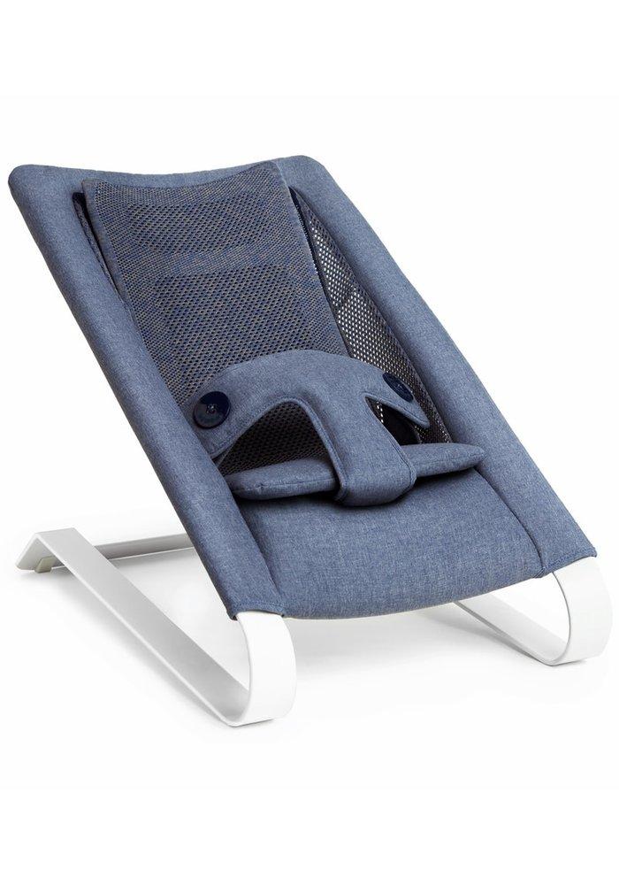 Bombol Bamboo 3D Knit Bouncer - Denim Blue