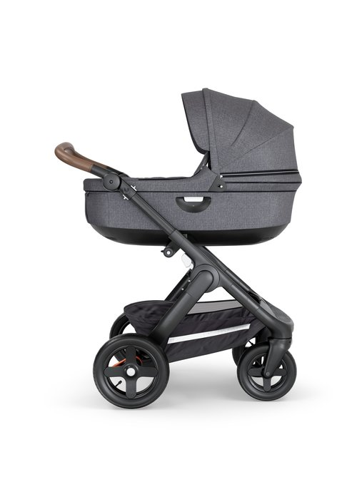 Stokke CLOSEOUT!! Stokke Crusi And Trailz Carrycot In Black Melange (Frame Not Included)