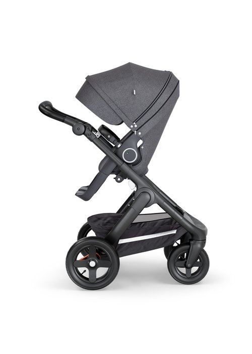 Stokke CLOSEOUT!! Stokke Trailz Black Frame- Black Handle Stroller With Terrain Wheels   Black Melange