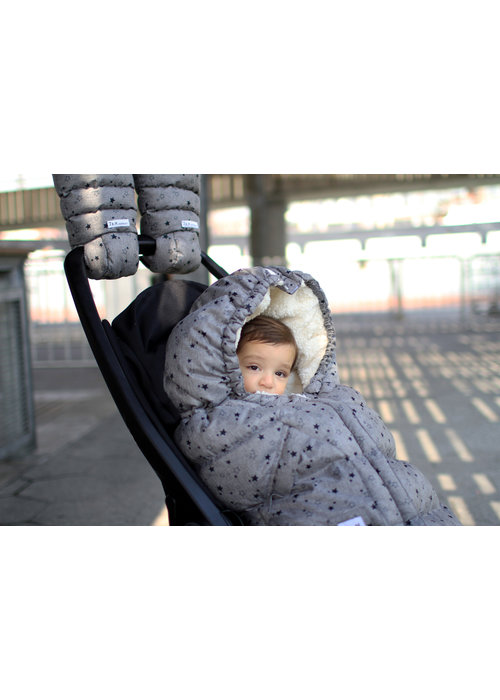 7 AM 7 A.M. Enfant Evolution 212 Blanket In Heather Grey Stars- 6 Months -4 Toddler