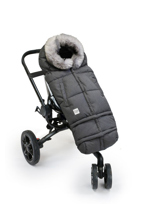 7 AM 7 A.M. Enfant Evolution 212 Blanket In Heather Grey Dark Faux Fur /Plush - 6 Months -4 Toddler