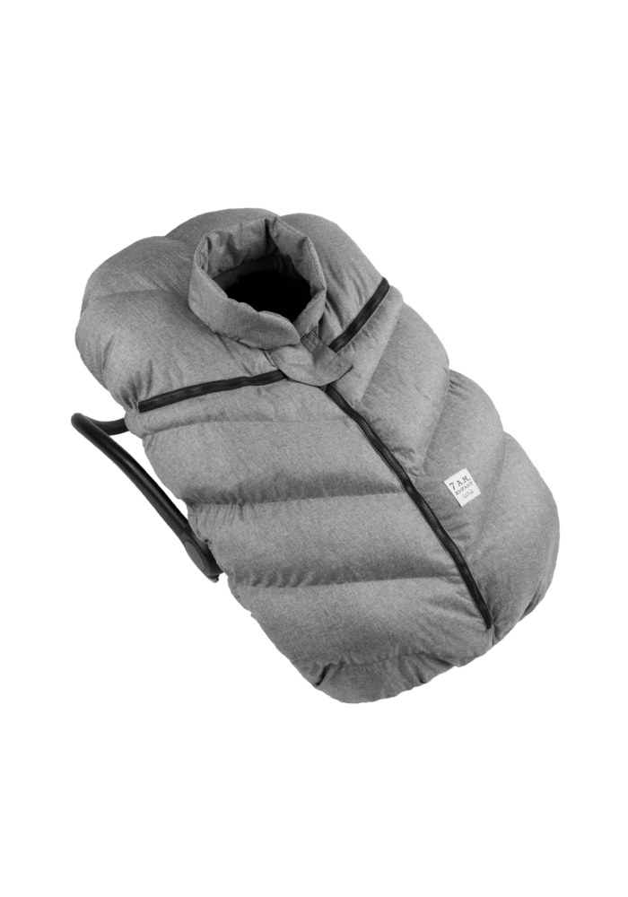 7 A.M. Car Seat Cover -Cocoon In Heather Grey 0-12 Months