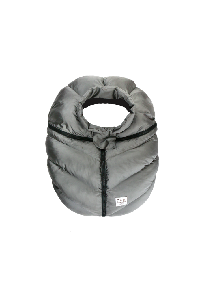 7 A.M. Car Seat Cover - Cocoon In Metallic Grey 0-12 Months
