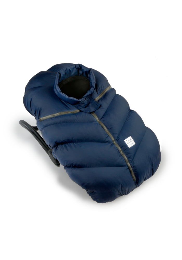 CLOSEOUT!! 7 A.M. Car Seat Cover - Cocoon In Midnight 0-12 Months
