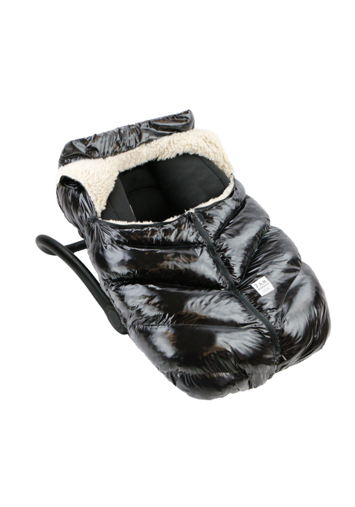 7 A.M. Car Seat Cover - Cocoon In Black Polar 0-12 Months