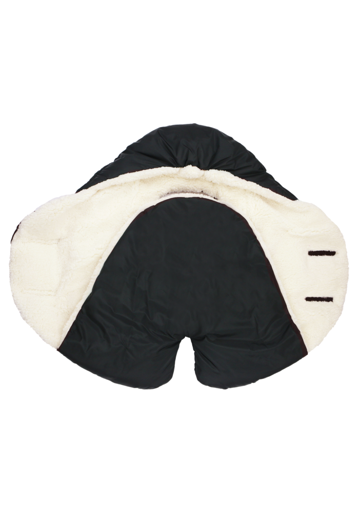 7 A.M. Enfant Nido Cloud Heavyweight In Black- Large  6-18 Months