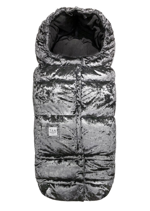 7 AM 7 A.M. Enfant Evolution 212 Blanket In Grey Velvet Fleece - 6 Months -4 Toddler