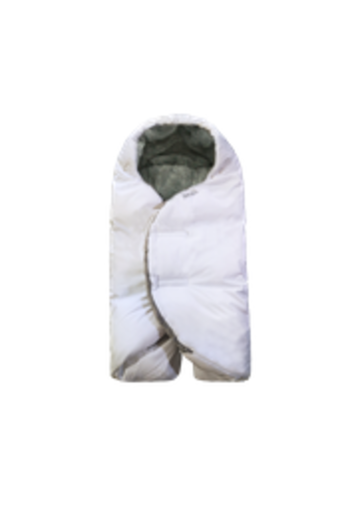 7 A.M. Enfant Nido Winter Infant Wrap In White Plush- Small 0-6 Months