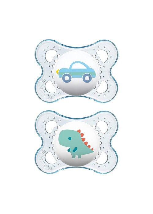 Mam Mam Original Silicone Pacifier 2-Pack (Assorted) - 6 + Months