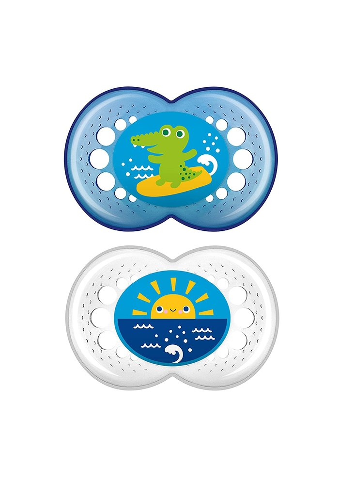 Mam Crystal Silicone Pacifier 2-Pack (Assorted) - 6 + Months