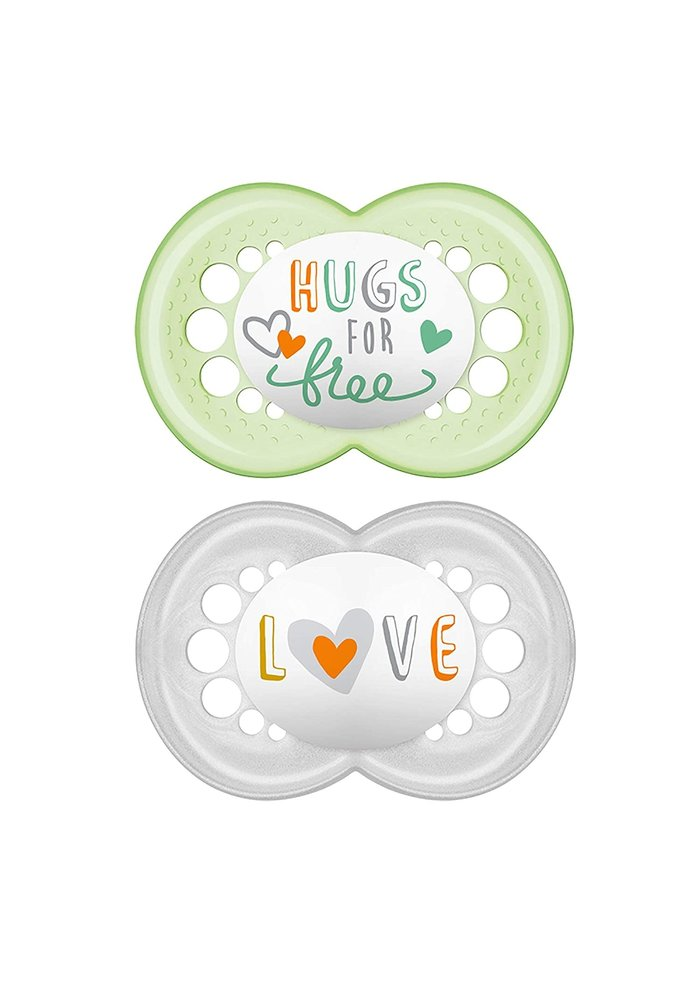 Mam Attitude Silicone Pacifier 2-Pack (Assorted) - 6 + Months