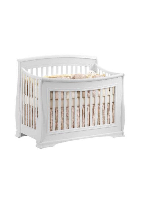 Natart Natart Bella 4 In 1 Convertible Crib to Double In Pure White