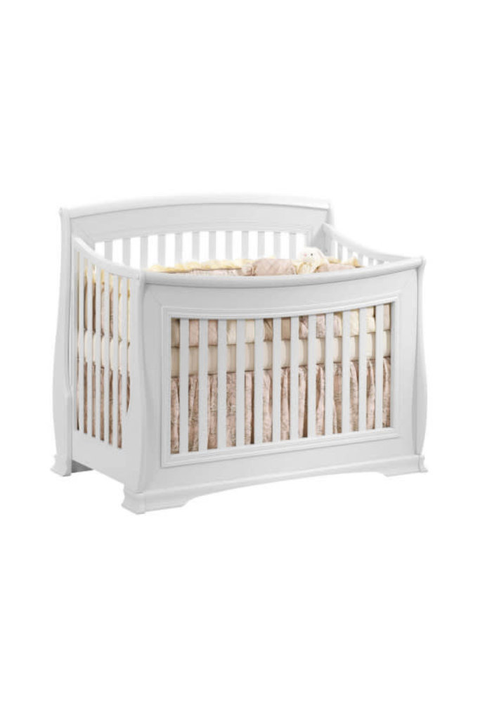 Natart Bella 4 In 1 Convertible Crib to Double In Pure White