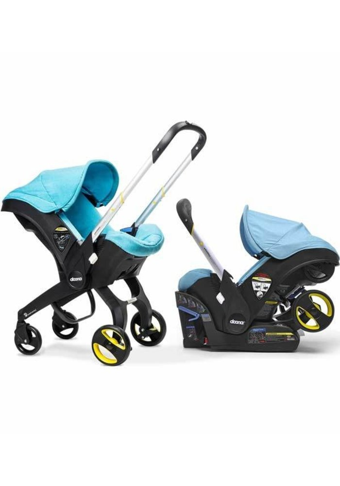 Doona Infant Car Seat - Stroller With Infant Car Seat Base Turquoise- Sky
