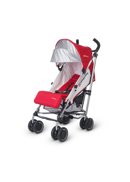 UppaBaby CLOSEOUT!! 2017 Uppa Baby G-Luxe Stroller In Denny (Red-Silver)