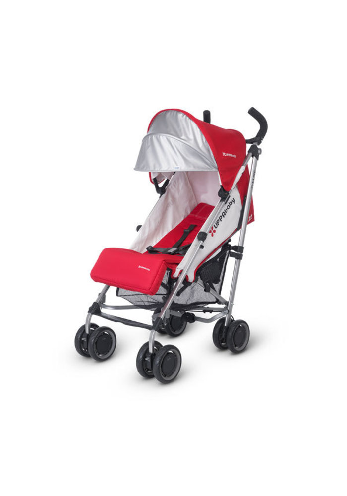 CLOSEOUT!! 2017 Uppa Baby G-Luxe Stroller In Denny (Red-Silver)