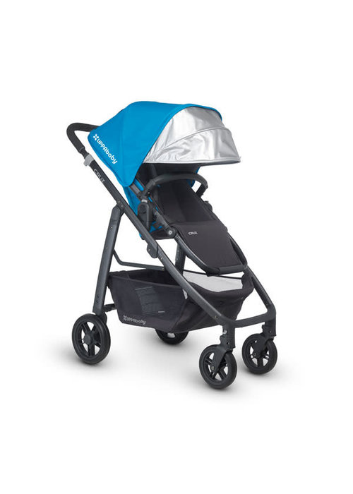 UppaBaby CLOSEOUT!! 2015 Uppa Baby Cruz Stroller In Georgie (Marine Blue-Carbon)