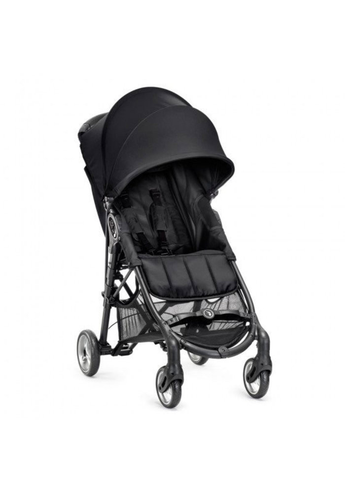 CLOSEOUT!! 2018 Baby Jogger City Mini Zip Wheel Single In Black - Gray With Cup Holder