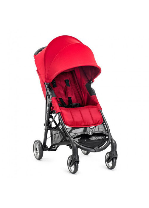 Baby Jogger CLOSEOUT!! 2018 Baby Jogger City Mini Zip Wheel Single In Red - Gray With Cup Holder