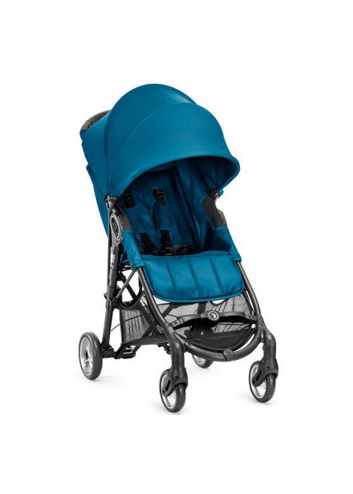 Baby Jogger CLOSEOUT!! 2018 Baby Jogger City Mini Zip Wheel Single In Teal - Gray With Cup Holder