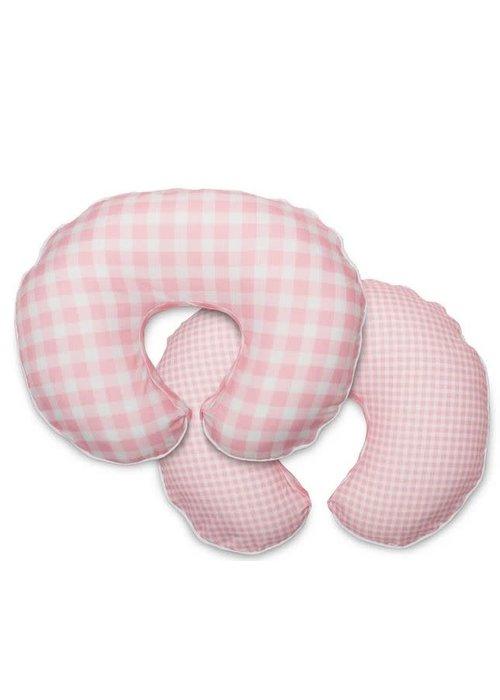 Boppy Boppy Bare Naked Pillow With Premium Slip Cover In Pink Jumbo Plaid
