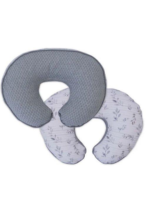 Boppy Boppy Luxe Feeding & Infant Support Pillow In Gray Penny Dot Leaf Stripe