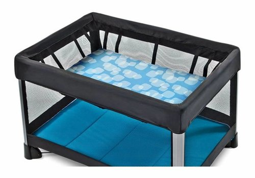 4moms CLOSEOUT!! 4moms Breeze Bassinet Waterproof Playard Sheet In Blue