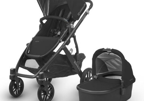 UppaBaby Uppa Baby Cruz Stroller In JAKE (Black/Carbon/Black Leather)