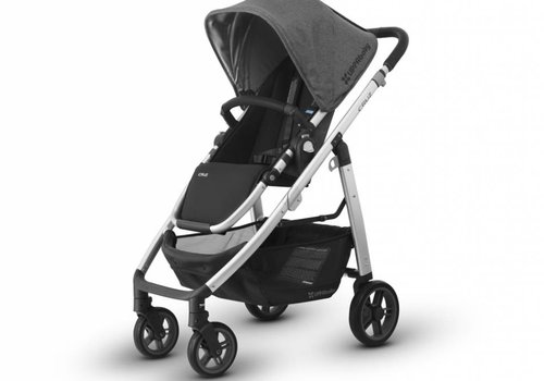 UppaBaby Uppa Baby Cruz Stroller In JORDAN (Charcoal Mélange/Silver/Black Leather)