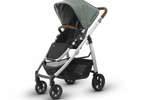 UppaBaby Uppa Baby Cruz Stroller In EMMETT (Green Mélange/Silver/Saddle Leather)