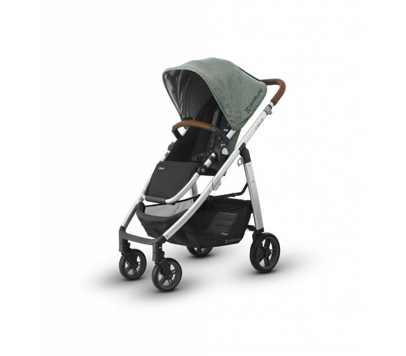 Uppa Baby Cruz Stroller In EMMETT (Green Mélange/Silver/Saddle Leather)